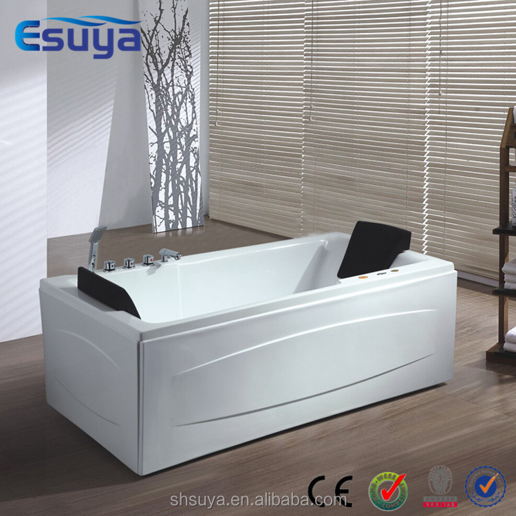 Freestanding portable bathtub one piece acrylic tub big for Best acrylic bathtub to buy
