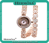 HOT Hermosa Best Xmas Gift Women Wristwatch Unique Long Band Fashion Shenzhen Wholesale Gold Wrist Watch HG0030W