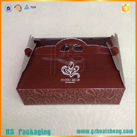 Restaurant Food Paper Packaging Box/customized hot dog box