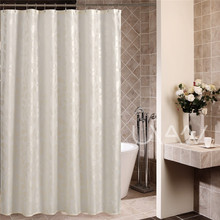 High quality gold powder printing leaves shower curtain