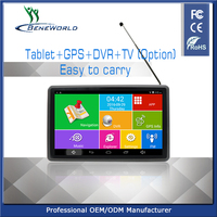 7 inch touch screen portable car gps navigator with DVR BT FM AVIN ISDB-T