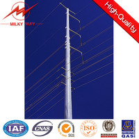 25 meter high mast light,round electric pole
