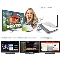 NEWEST 1080P Full HD Android 4.2 Smart TV Box Multimedia Player with WIFI + RJ45 TV BOX