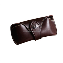 handmade custom soft pouch leather sunglasses case
