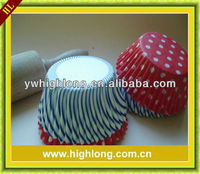 Mixed loading baking paper cups for cakes.