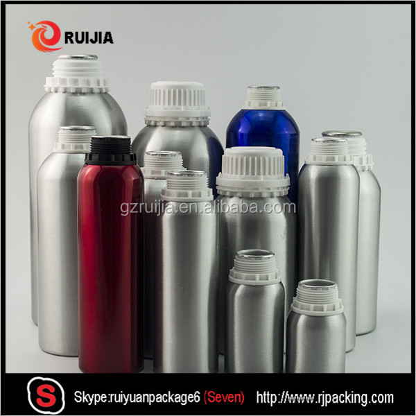 Free samples 10ml to 1000ml aluminum bottle with tamperproof cap for cosmetic essential oil wholesales