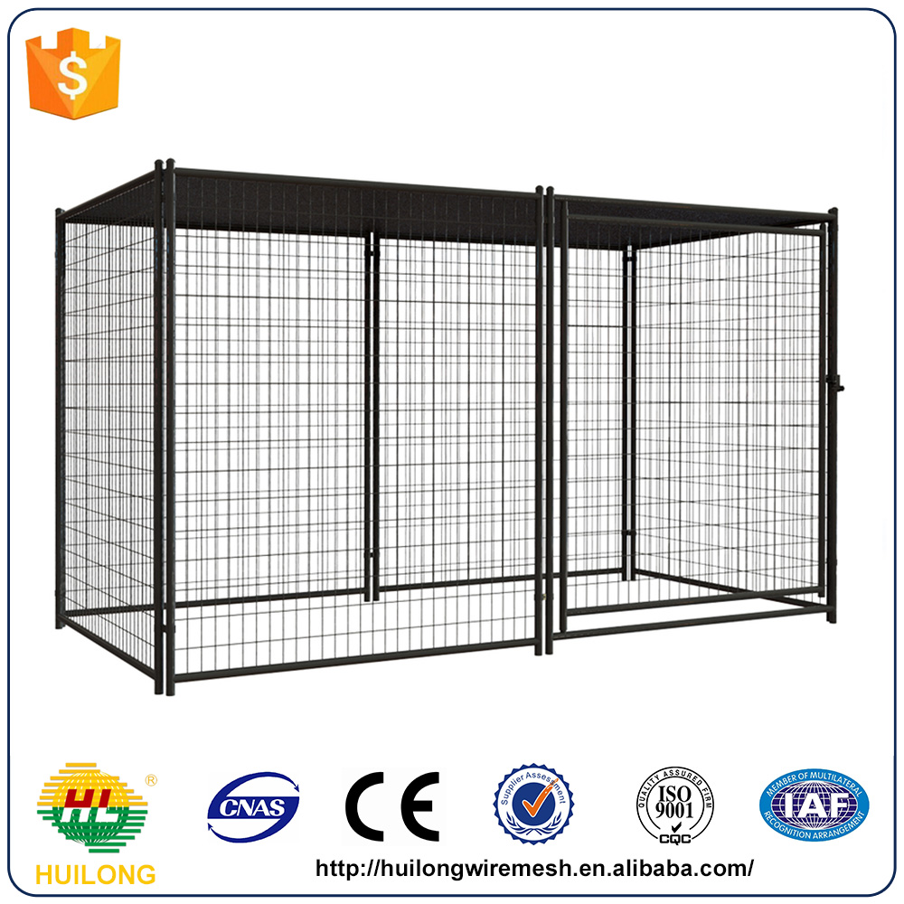 Dog House 4 ft. x 8 ft. x 6 ft. Welded Wire Dog Pet Fence Kennel
