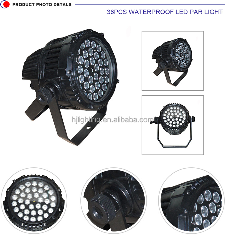2016 Alibaba wholesale manufacture 36 x 3W rgbw LED par 64 light for stage decoration