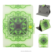 Green Retro Tribe Leather Flip Universal 7 inch 10 inch Tablet Stand Case