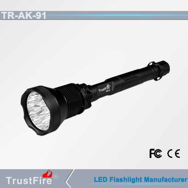 Hot new products TrustFire AK-91 long rang Led flashlight 14000m/Police Led lamp with accessory 26650 rechargeable battery