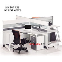 Office furniture PVC edging call center cubicle workstation for 4 person