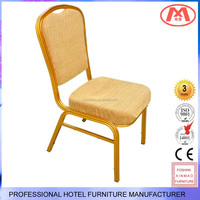 XM-A103 fast food restaurant table and chair with golden frame,red PU leather cushion