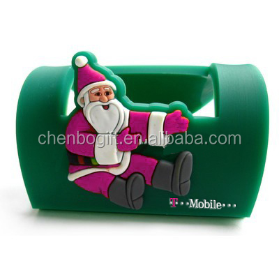 Chirstmas gift Santa Clause design mini foldable unique mobile phone holder