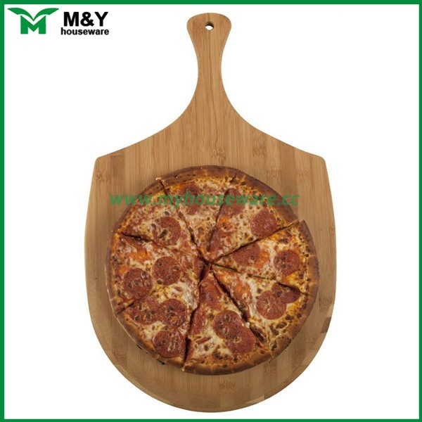 Bamboo pizza peel, bamboo pizza board chopping blocks with handle