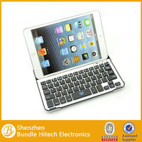 2014 hot selling bluetooth wireless keyboard for ipad mini,for ipad rubber bluetooth keyboard