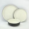 Factory supply restaurant luxury whorl glazed 12pcs ceramic stoneware sets dinnerware