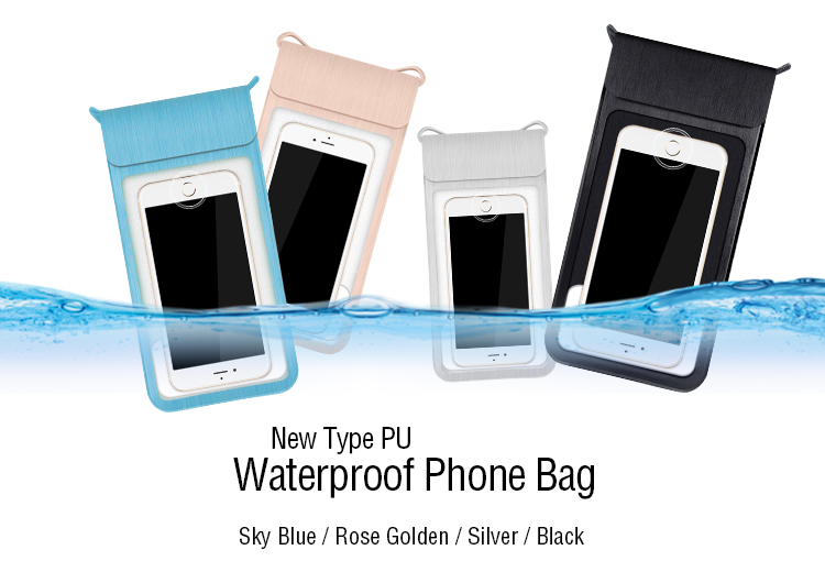 Free Sample Universal Mobile Bag PU Carrying Waterproof Cell Phone Case For iphone 7 6s For samsung note j7