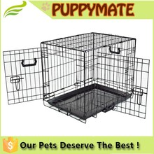 Pet Folding Dog Cat Crate Cage Kennel With Single Door