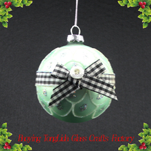 Christmas ornament round glass ball