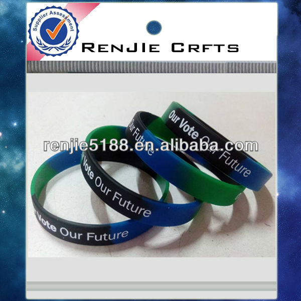 Sellingwell all over the world .Customized silicone rubber bracelets wrist bands promotional products