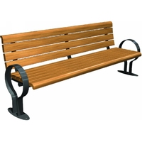 Good Quality Wooden Lounge Bench