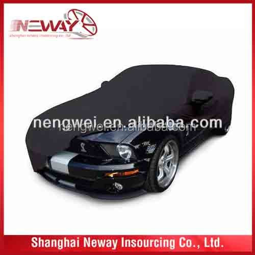 Black Color Fitting Well Customized Car body Cover