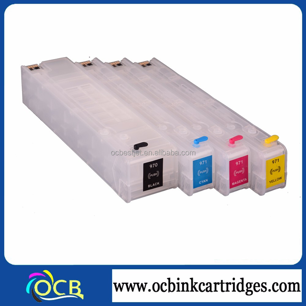 auto reset chip refill ink cartridge for hp 970 971