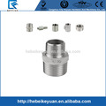 "Hex Nipple 1-1/2"" x 3/4"" Male Stainless Steel 304 Thread Reducer Pipe Fitting BSP"