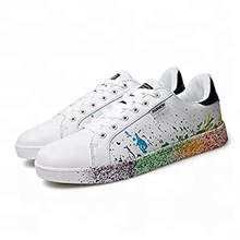 Men and Women's Personality Flat Shoes Printing Casual Shoes
