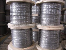 ISO sleeve and cutter pvc coated galvanized mesh net stainless steel wire rope