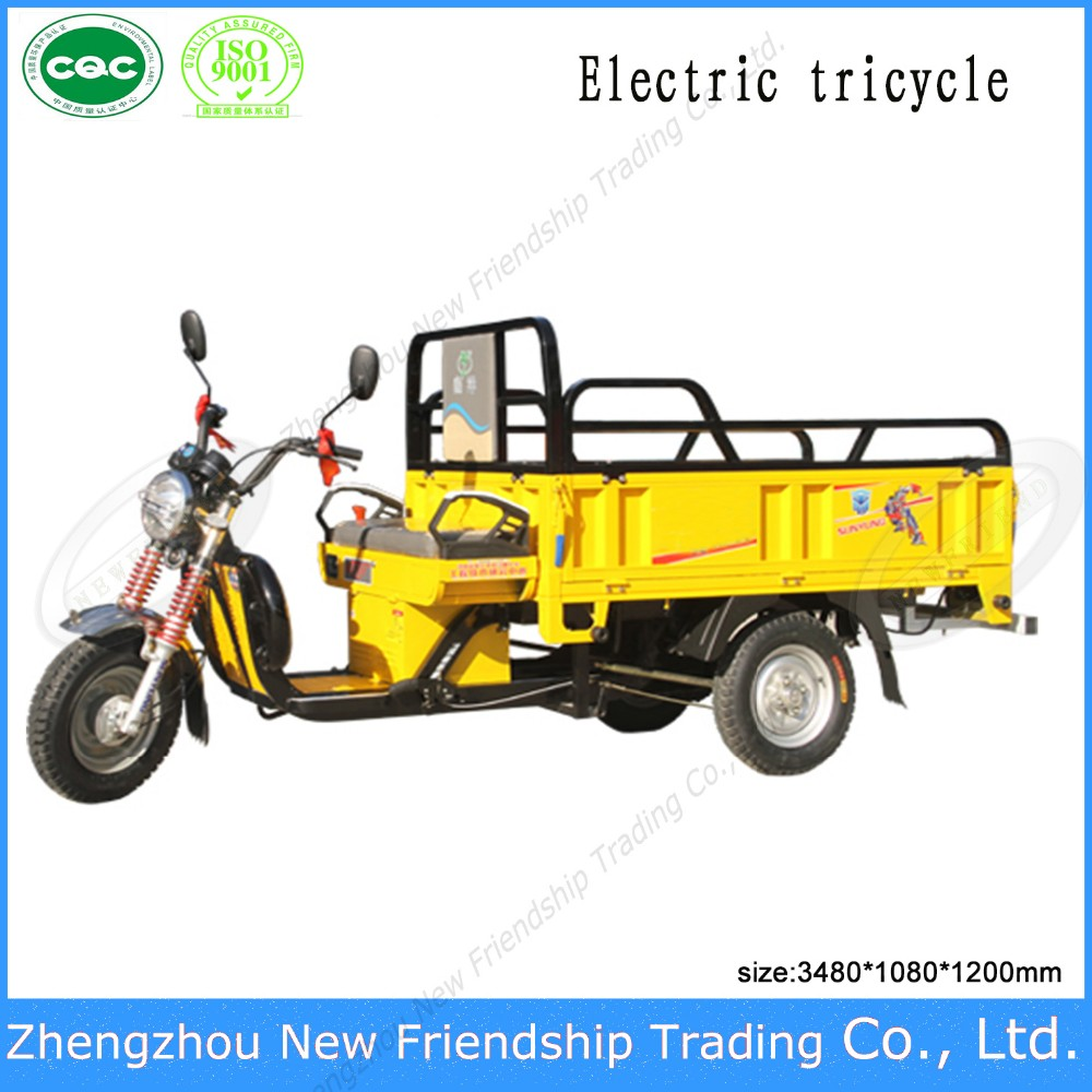 Electric power longer range mieage adult big wheel tricycle