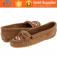 popular design fashion lady brand name leather shoes