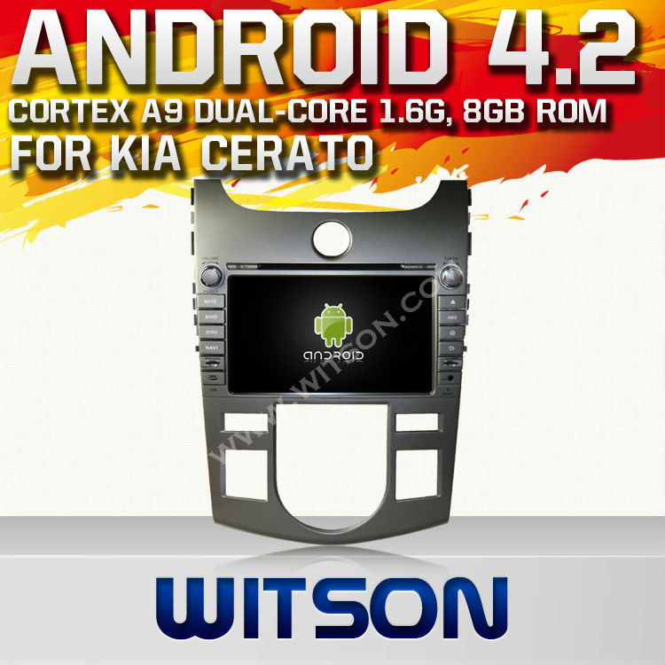 WITSON ANDROID 4.2 SPEICAL CAR KIT FOR KIA FORTE/CERATO/KOUP 2008-2011 WITH A9 CHIPSET 1080P