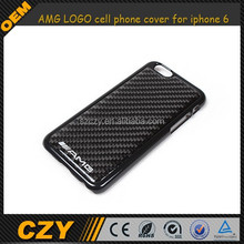 AMG LOGO Carbon Fiber cell phone cover for iphone 6