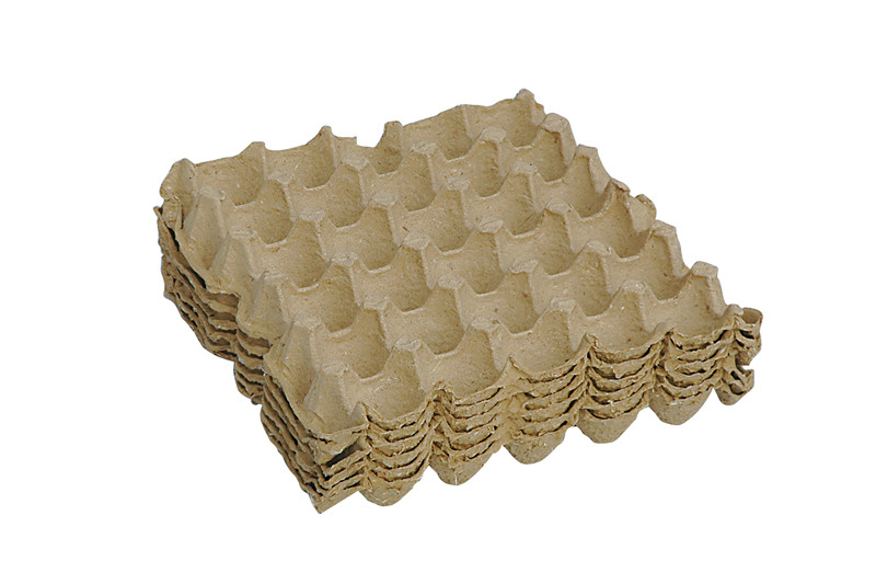 Eco-friendly pulp paper hot press egg tray from paper egg tray factory