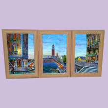MDF wood wall mounted collage photo frame oil paintings picture frame
