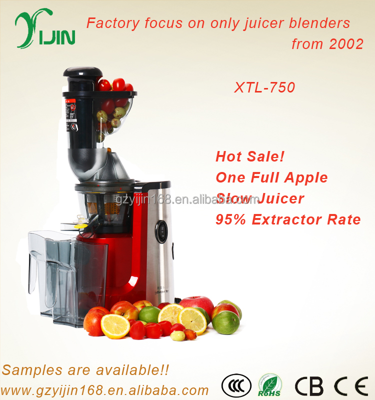 Above 95% extractor rate stainless steel luxury slow juicer machine XTL-750