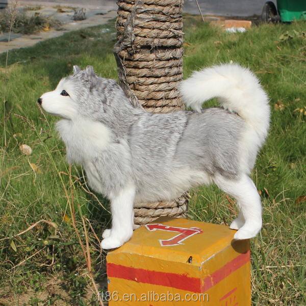 plush dog toy siberian husky puppy for sale fake dogs that look real