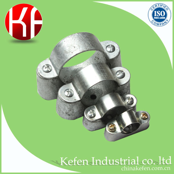 Electrical GI conduit distance saddle with malleable base