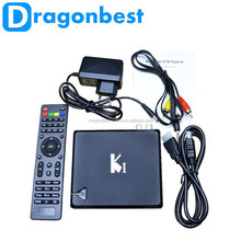 KI 2in1 DVB-T2 Video Broadcasting Satellite Receiver Android4.4 TV Box Quad Core 1G/4G KD player DLNA Smart Media Player