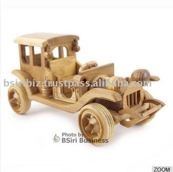 High Quality Wooden vintage car model