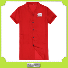 Custom high visibility casual office short sleeve uniform design