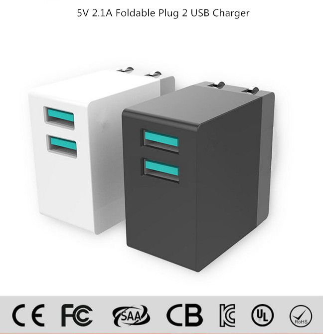 Made in china Good quality fast charger Mobile phone accessories 30w 2 port uk us plug USB adapter wall travel charger