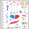 Gold, silver,black, color dream catcher temporary metallic flash tattoos(in stock)