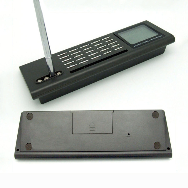 Calculator With LCD World Time Clock
