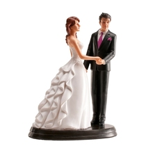 resin wedding cake topper for wedding decoration bride and groom figure