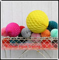 Tissue paper hanging Honeycomb pom pom for baby shower decoration