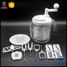 Plastic design mechanical food processor