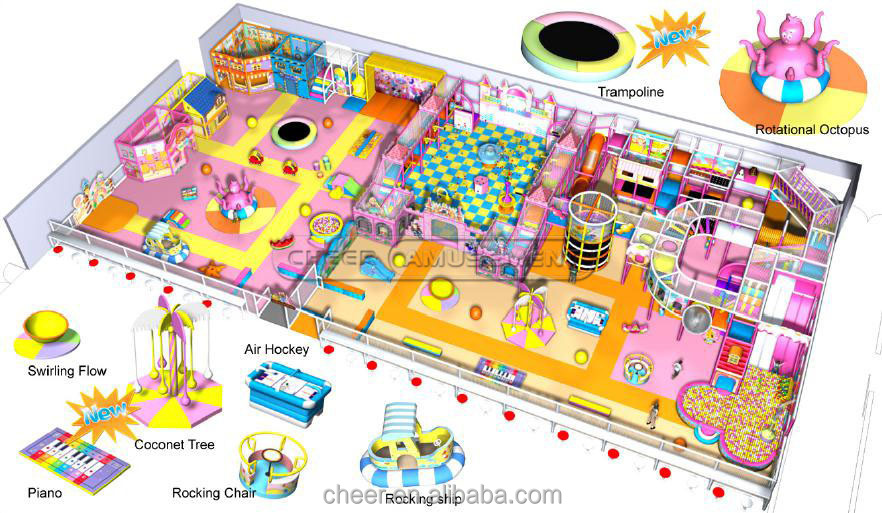 Cheer Amusement Children Park Indoor Playground Equipment