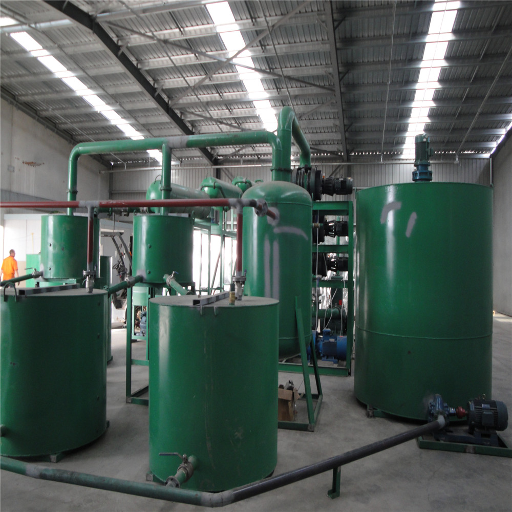 China Waste Motor Oil Disposal Plant For Base Oil Vacuum Distillation Equipment